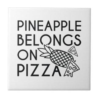 Pineapple Belongs On Pizza Tile