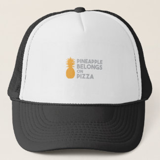 Pineapple Belongs On Pizza Trucker Hat
