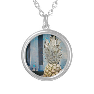 Pineapple By The Beach Silver Plated Necklace