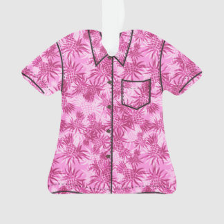 Pineapple Camo Hawaiian Tropical Aloha Shirt Ornament