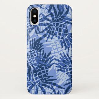Pineapple Camo Hawaiian Tropical Blue Case-Mate iPhone Case