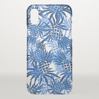 Pineapple Camo Hawaiian Tropical Indigo Blue iPhone X Case