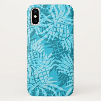 Pineapple Camo Hawaiian Tropical Turq iPhone X Case