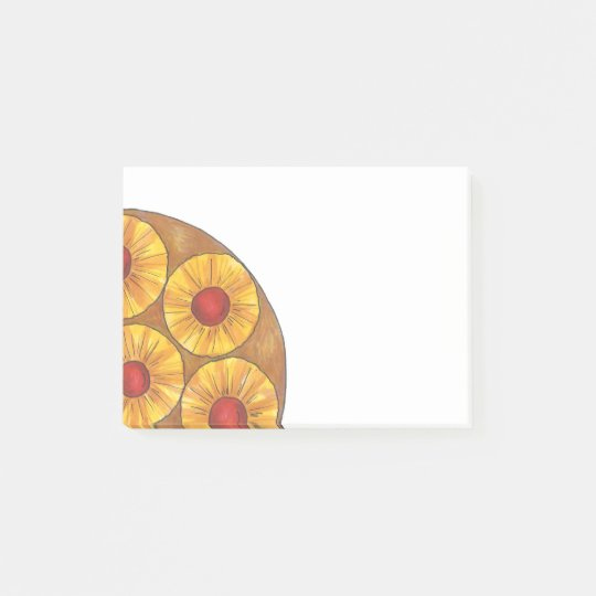 Pineapple Cherry Upside Down Cake Post its Post-it Notes