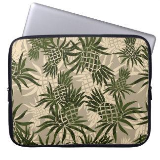 Pineapple Collage Hawaiian Neoprene Wetsuit Laptop Sleeve