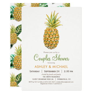 Pineapple Couples Shower Invitation