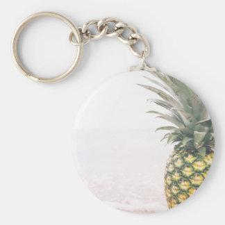 Pineapple Crown Basic Round Button Keychain
