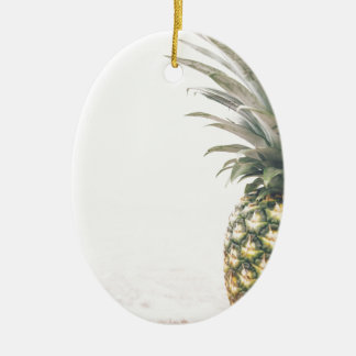 Pineapple Crown Ceramic Oval Ornament
