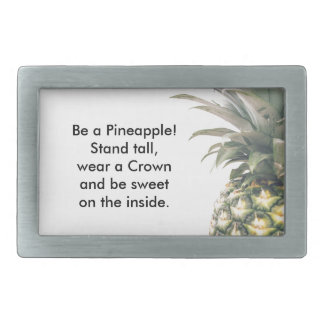 Pineapple Crown Rectangular Belt Buckle