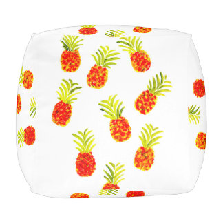 Pineapple cube pouf