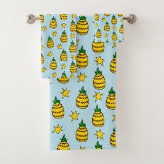 Pineapple Design Towel Set