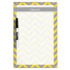 Pineapple Dk Grey LG Chevron Dk Grey Name Monogram Dry Erase Board