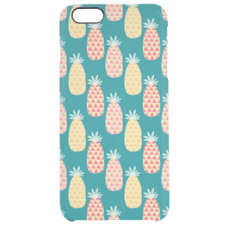 Pineapple Doodle Pattern Clear iPhone 6 Plus Case