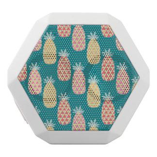 Pineapple Doodle Pattern White Bluetooth Speaker