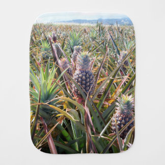 Pineapple Field Burp Cloth
