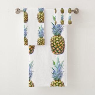 Pineapple Fruit Beach Dessert Destiny Destiny's Bath Towel Set