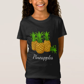 Pineapple Fruit Girls' fine Jersey T-Shirt