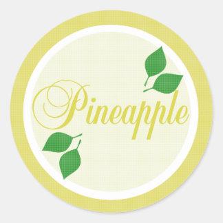 Pineapple Fruit Label Sticker