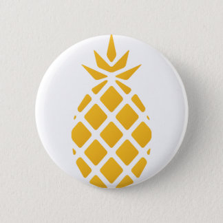 pineapple, fruit, logo, food, tropical, citrus, ye 2 inch round button