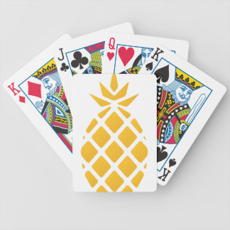 pineapple, fruit, logo, food, tropical, citrus, ye bicycle playing cards