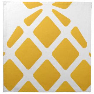 pineapple, fruit, logo, food, tropical, citrus, ye napkin