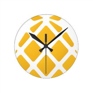 pineapple, fruit, logo, food, tropical, citrus, ye round clock