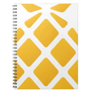 pineapple, fruit, logo, food, tropical, citrus, ye spiral notebook