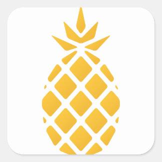 pineapple, fruit, logo, food, tropical, citrus, ye square sticker