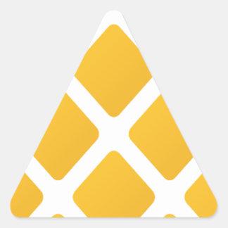 pineapple, fruit, logo, food, tropical, citrus, ye triangle sticker