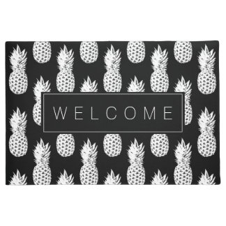 Pineapple fruit pattern custom welcome door mat