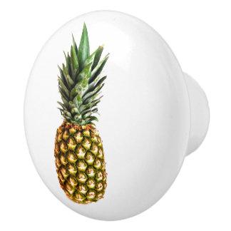 Pineapple fruit photo door and drawer pull knobs ceramic knob