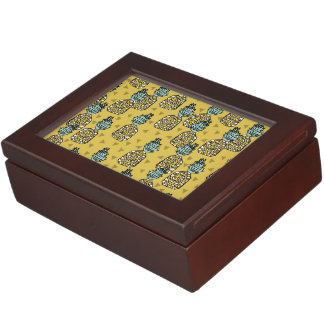 Pineapple / Geo Geometric Yellow / Andrea Lauren Memory Boxes