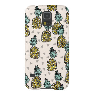 Pineapple Geometric Tropical Summer Andrea Lauren Galaxy S5 Cases