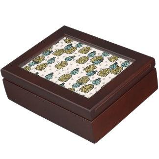 Pineapple Geometric Tropical Summer /Andrea Lauren Keepsake Boxes