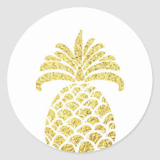 Pineapple gold Envelope seal sticker Tropical