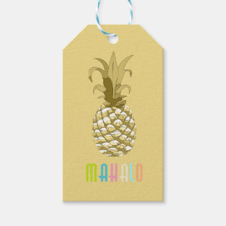 Pineapple Gold Mahalo ID239 Pack Of Gift Tags
