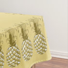 Pineapple Gold Row ID239 Tablecloth
