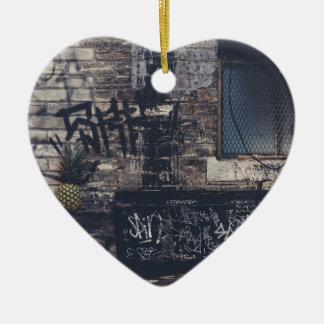 Pineapple Graffiti... Ceramic Ornament