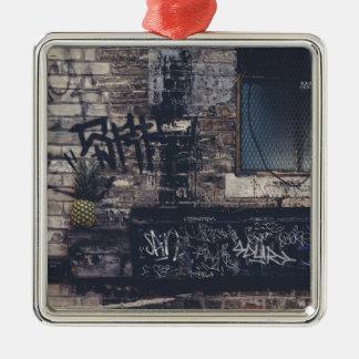 Pineapple Graffiti... Metal Ornament