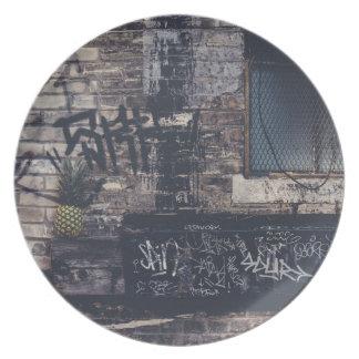 Pineapple Graffiti... Plate