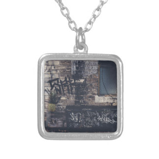 Pineapple Graffiti... Silver Plated Necklace