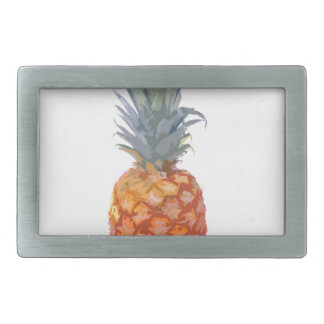 Pineapple Graphic Rectangular Belt Buckle