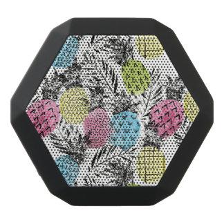 Pineapple Grunge Palms Black Bluetooth Speaker