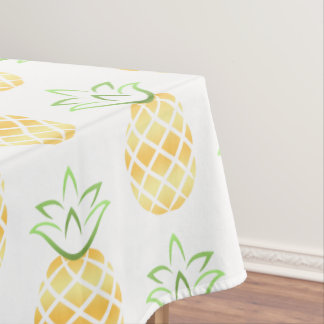 Pineapple Hawaii Tablecloth, luau, beach party Tablecloth