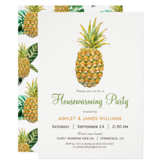 Pineapple Housewarming Party Invitation