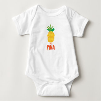 Pineapple in spanish: Piña Baby Bodysuit