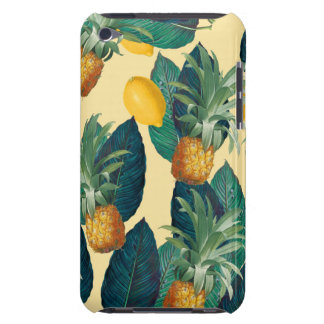 pineapple lemons yellow barely there iPod covers