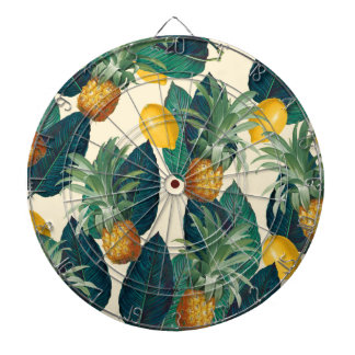 pineapple lemons yellow dartboard