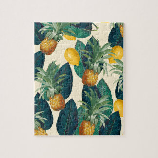 pineapple lemons yellow jigsaw puzzle