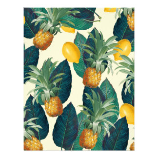 pineapple lemons yellow letterhead